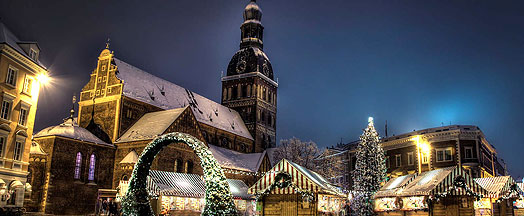 Mercado de Natal em Riga, Letônia. Foto: Alma de Viajante